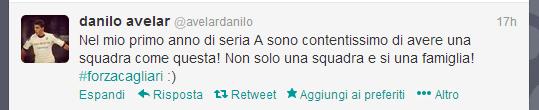 Dal profilo Twitter di Danilo Avelar