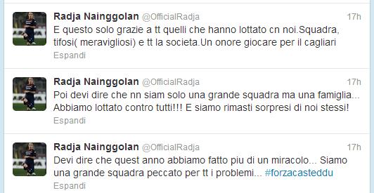 Dal profilo Twitter di Radja Nainggolan